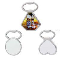 Heat Transfer Metal Beer Bottle Opener Fridge Magnet Sublimation Blank Corkscrew Household Kitchen Tool 3 Style NHB7843