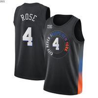 "Julius 30 Randle RJ 9 Barrett Derrick 4 Rose Jersey Patrick 33 Ewing Basketball Jerseys Novo ""York"" Knicks ""City Jerseys"