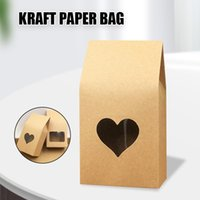 50pcs Paper Handmade Candy Bags Stand Up Window Gift Box For Wedding Jewelry Packing Mystery BoxBoite Cadeaux Wrap