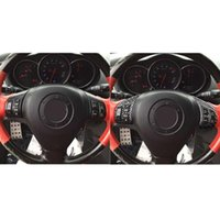 Steering Wheel Covers Carbon Fiber Cover Trim Cool Button Black High Quality