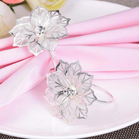 Napkin Rings European Flower Silver Mesh Drill Table Decoration Wedding Party Covers With Closure El Supplies Napking Holder