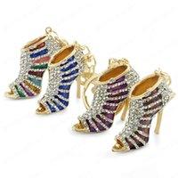 Fashion Crystal Trendy Purse Bag Buckle Bag Pendant Charm High heel Shoes Keyrings Keychains For Car key chains Jewelry