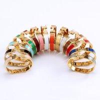 2021 Cleef Armband Herme Damen Ringe Anhänger Halsketten Schraube Van Party Hochzeit paar Geschenk Liebe Mode Luxus Designer Cartic Größe # 17 H02