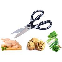 Tijeras de cocina de acero inoxidable Tijeras de cocina multiusos con cubierta de cuchilla Slicer Slicer Smart Cutter Herramientas HWF6527
