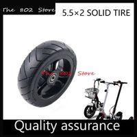 오토바이 바퀴 타이어 5.5x2 5inch 솔리드 타이어 외부 직경 128mm 호버 보드 셀프 밸런싱 전기 스쿠터 예비 부품