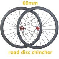 عجلات الدراجة 60MM الكربون العجلات 700C QR 23MM 1630G قرص القرص CX32 محاور 1420 تكلم 3K UD دراجة