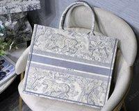고품질 Luxurys 오리지널 자수 디자이너 가방 Hobo 수 놓은 호랑이 패턴 대용량 큰 쇼핑백 핸드백 Tote 지갑 양면 양면