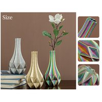 Creative ceramic geometric origami vase friends gifts family decorations party decoration