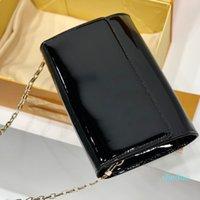 2021 Sac à bandoulière de marque de marque Mode Femme Lockmate de luxe Sacs d'enveloppe diagonale portative