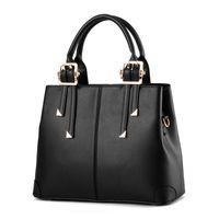 discount HBP Women Handbag Purse PU Leather Totes Bag ShoulderBag Lady Simple Style Handbags Purses Balck