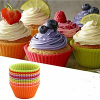 Silicone Muffin Cake Cupcake Cup Cakes Mould Case Bakeware Maker Mold Tray Baking Jumbo FWB6954