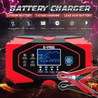12V-24V 8A Полное автоматическое автоматическое зарядное устройство для автомобильного зарядного устройства зарядные зарядные зарядки влажные сухие свинцовые кислоты зарядные устройства 7-ступенчатые зарядки автомобиля