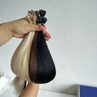 Brezilyalı Fan İpucu Saç Uzatma Keratin Füzyon İnsan Saç Uzantıları 1G / Strands 100 Teller / Çanta 11 Renkler 12-24 inç Fabrika Doğrudan Seçebilirsiniz
