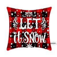 Pillow Case Santa Claus Christmas Tree Snowman Elk PillowCase Colorful PillowCover Home Sofa Car Decor Pillowcases FWD11118