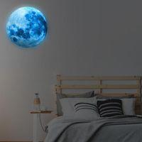 Wandaufkleber Glühen in der Dunkelheit und Planeten helle Sonnensystem Kind der hellen Mondsterne Dekor für Kinder Schlafzimmer Baby # W5