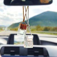 Storage Bottles & Jars 10pcs 8ml Hanging Car Empty Perfume Bottle Mini Diffuser Air Freshner Gadget Ornament