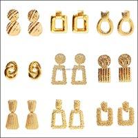 Jewelrygold Sier Retro Earrings Birfe Joker With Diamond Circle Earring Stud Drop Delivery 2021 Mxq8Z