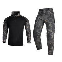 Охотничьи наборы HAN дикие тактические костюмы MultiCam камуфляж одежда Ghillie Unifore Hiking одежда на открытом воздухе рубашка пейнтбола