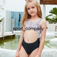 Toddler and Teen Cute Swimwear 4~13 Years Dotted Children Swimsuit Hollow One Piece Kid Girls Bathing Suit Beach Wear 2021