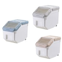 Storage Bottles & Jars Food Box Plastic Kitchen Lunch With Lid Sealed Moisture-Proof Pet Dog Container Flip
