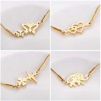 Hfarich Trendy Butterfly Heart Elephant Charm Bracelets For Women Girls And Kids 2021 Hand Snake Chain Grace Beautiful Gift Link,