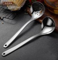 304 utensili in acciaio inox in acciaio inox utensili in acciaio inox allungato addensato pentola leggera da maschio muro cucchiai di cucchiai da cucina utensili da cucina all'ingrosso