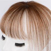 Parrucche sintetiche Allaostify 11 pollici Topper Toupee Puntatore clip in un pezzo di capelli con frangia per le donne 4 colori in