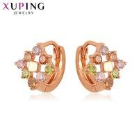 11.11 ofertas Xuping Chegada estilo europeu aros em forma de brincos para mulheres na moda jóias presentes natal s97554 hoop huggie