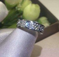 Full Diamond in acciaio in acciaio in argento argento anello di amore uomini e donne anelli in oro rosa per amanti regalo di gioielli coppia