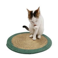 Cat Beds & Furniture Pet Accessories Claw Grinding Pure Manual Natural Cotton Scratch Pad Litter Mat Washable Cooling Blanket Ice Dropship