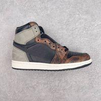 1 высокий og rog stort тень мужская обувь черный серый старинный баскетбольный ботинок спортивные тренажеры jumpman 1s кроссовки