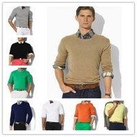 2021 새로운 고품질 폴로 남성 트위스트 바늘 스웨터 니트 코튼 라운드 넥 스웨터 풀오버 스웨터 남성 크기 M-3XL