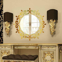 Wall Sticker Room Acrylic Decal Art DIY Mirror Light Decor Home Decoration HANW88 Stickers