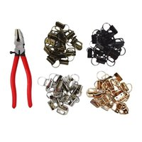Hooks & Rails 72PCS Webbing Tail Clip Key Fob Hardware 25mm Keychain Split Ring With Tool Pliers For Wrist Wristlets Cotton