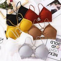 1 pc mulheres sexy algodas esportes sutiã esporte sutiã yoga top strap respirável underwear pad pad embrulhado aptidão padre aptidão brasoccer jersey