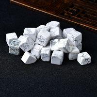 6 штук полированные натуральные Hovlite Cube упал каменный гравийный камень кристалл белый бирюзовый камень ручной полированный рыбный танк декор