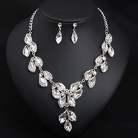 Earrings & Necklace Exquisite Rhinestone Jewelry Sets For Women Engagement Accessories Luxury Jewellery Female Wedding Gift