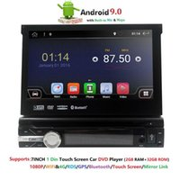 Din Android 9.0 Quad Core Car DVD Player For Universal GPS Navigation Stereo Radio WIFI MP3 Audio USB SWC