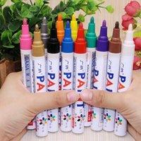 12 Renkler Su Geçirmez Yağlı Marker Kalem Araba Lastik Lastikleri Sırtı CD Mark Kalıcı Sanatçı Sanat Boyama Graffiti Yazma Kırtasiye
