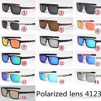 Verres polarisées de marque Casual Retro Lunettes de soleil Holbrok Métal PRIZM Pilote de conduite de conduite de conduite à l'extérieur Sunglasses occasionnels 4123 Hommes