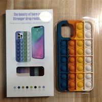 2021 Arrival Pop Fidget Bubble Silicone CellPhone Cases For iPhone 7 8 Plus X XS Max XR 11 12 Pro Max Relive Stress