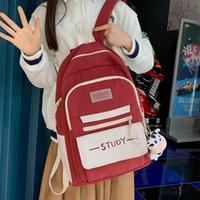 Backpack Harajuku Female Big Leisure Girls Luxury Bookbag Bagpack Student Cotton School Bag Kawaii Women Shoulder Travel Mochila