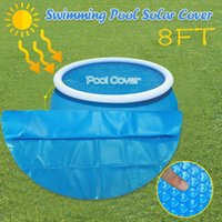 Life Vest & Buoy Summer Round Pool Cover Protector 8ft Foot Above Ground Blue Protection Swimming 240*240cm Outdoor Accessories