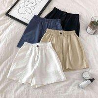 Women's Jeans Summer pants loose, line by line, broad leg, feminine, elastic, high waist, casual, shorts straight, women, harajuku, shorts, girl 162A