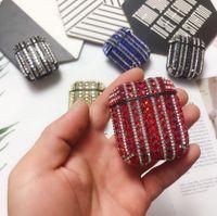 Luxo Diamond Bling Case Ar Pods 1 2 Protetor Mulheres Cristal Anti-Perdido Capa Para Airpods Pro Casos de carregamento sem fio