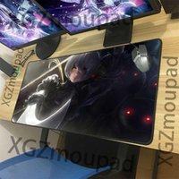 Mouse Pads & Wrist Rests XGZ Large Gaming Pad Black Lock Edge Anime Cute Loli NieR: Automata Computer Keyboard Table Mat Rubber Stripe Non-s