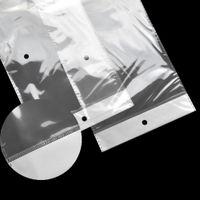 10.5x62cm Clear Opp Plastic Plastic Wig Package Bag Autoadesivo Poly Transparent Poly Bags Borse da imballaggio Parrucchiere Capannone per capelli