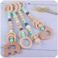 Baby Teether Toys Wooden and Silicon Bead Animal Shape Original Design Infant Pacify Accessories Eco-Friendly Babies Toy