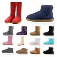 2021 Австралия дизайнерские классические женщины WGG австралийские ботинки зима снега леди пушистые атласные ботинки девушки лодыжки пинетки меховые кожаные боути туфли 34-43 123