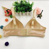 Bikini three row breastless bra for middle-aged and elderly women